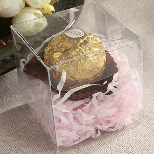 "25 PCS | 3""x3"" Clear Party Favor Boxes"