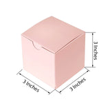 "100 PCS | 3""x 3""x 3"" Black/White Wholesale Flocking Favor Gift Cake Boxes"