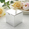 "100 PCS 3"" x 3"" Silver Favor Boxes"