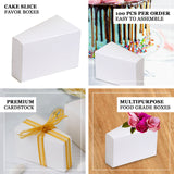 100 PCS Cake Slice Favor Boxes - Clearance SALE