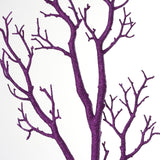 "32"" Glittered PURPLE Manzanita Tree Centerpiece For Wedding Party Event Table Top Decoration - Set Of 4"
