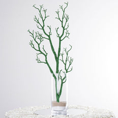 "32"" Glittered GREEN Manzanita Tree Centerpiece For Wedding Party Event Table Top Decoration - Set Of 4"