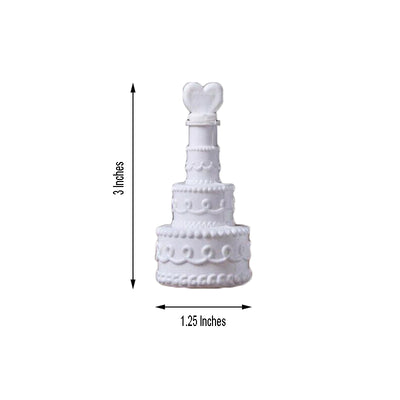 24 Pack | 3'' White Cake Heart Bubbles Bridal Favor