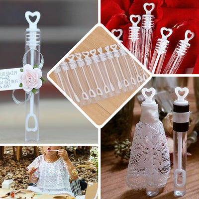 48 PCS Heart Tube Bubbles Bridal Favor