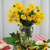 4 Pack 88 Pcs Yellow Artificial Silk Daisy Flowers