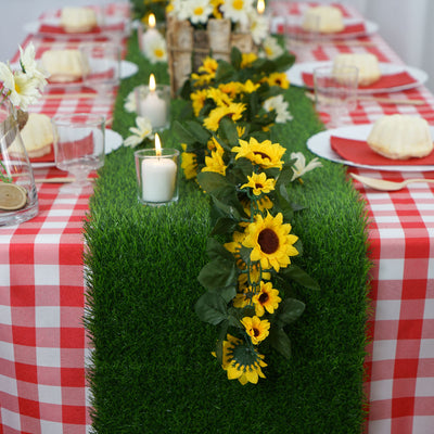 "12x108"" Artificial Grass Table Runner"
