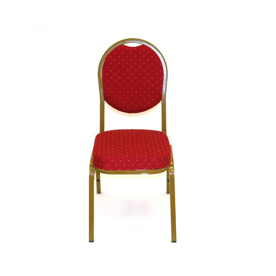 Gold Spandex Stretch Banquet Chair Cover With Metallic Glittering Back