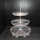 3 Tier White Metal Cupcake Stand