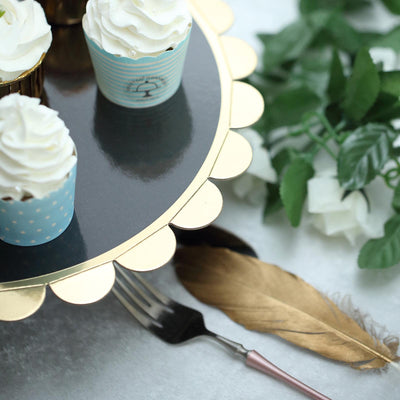 "1 Tier | 13"" Black Cardboard Cupcake Stand 