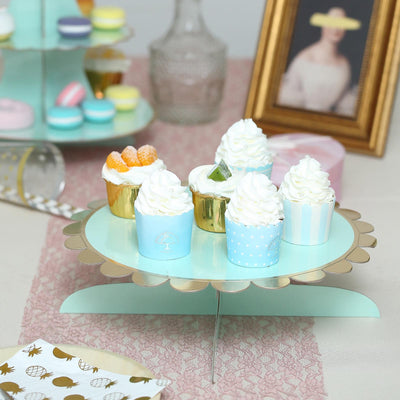 "1 Tier | 13"" Mint Cardboard Cupcake Stand 