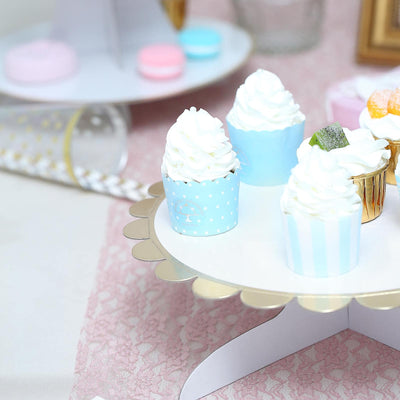 "1 Tier | 13"" White Cardboard Cupcake Stand 