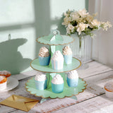 "3 Tier | 13"" Mint Cardboard Cupcake Stand 