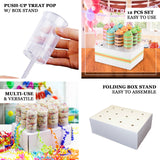 12 Pack Clear Plastic Push-Up Cake Pop Shooter with Display Box, Push Pop Display Set