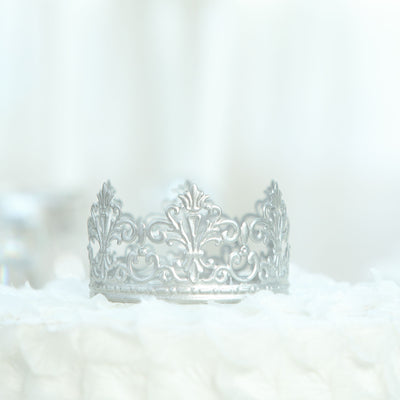 Silver Metal Princess Crown Cake Topper | Wedding Cake Toppers