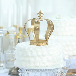 "8"" Gold Metal Royal Crown Cake Topper 
