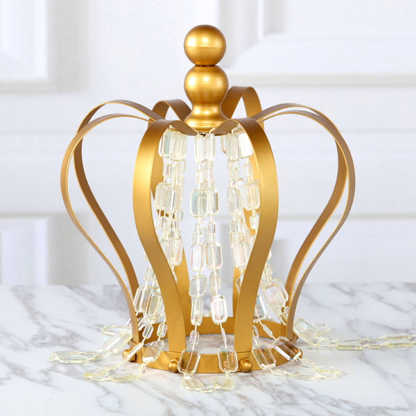 Candle Holders Provided Classic Metal Golden Candle Holders Wedding Table Candelabra Home Party Centerpiece Flower Rack Crown Pattern Vase 10 Pcs/ Lot Lustrous Home & Garden