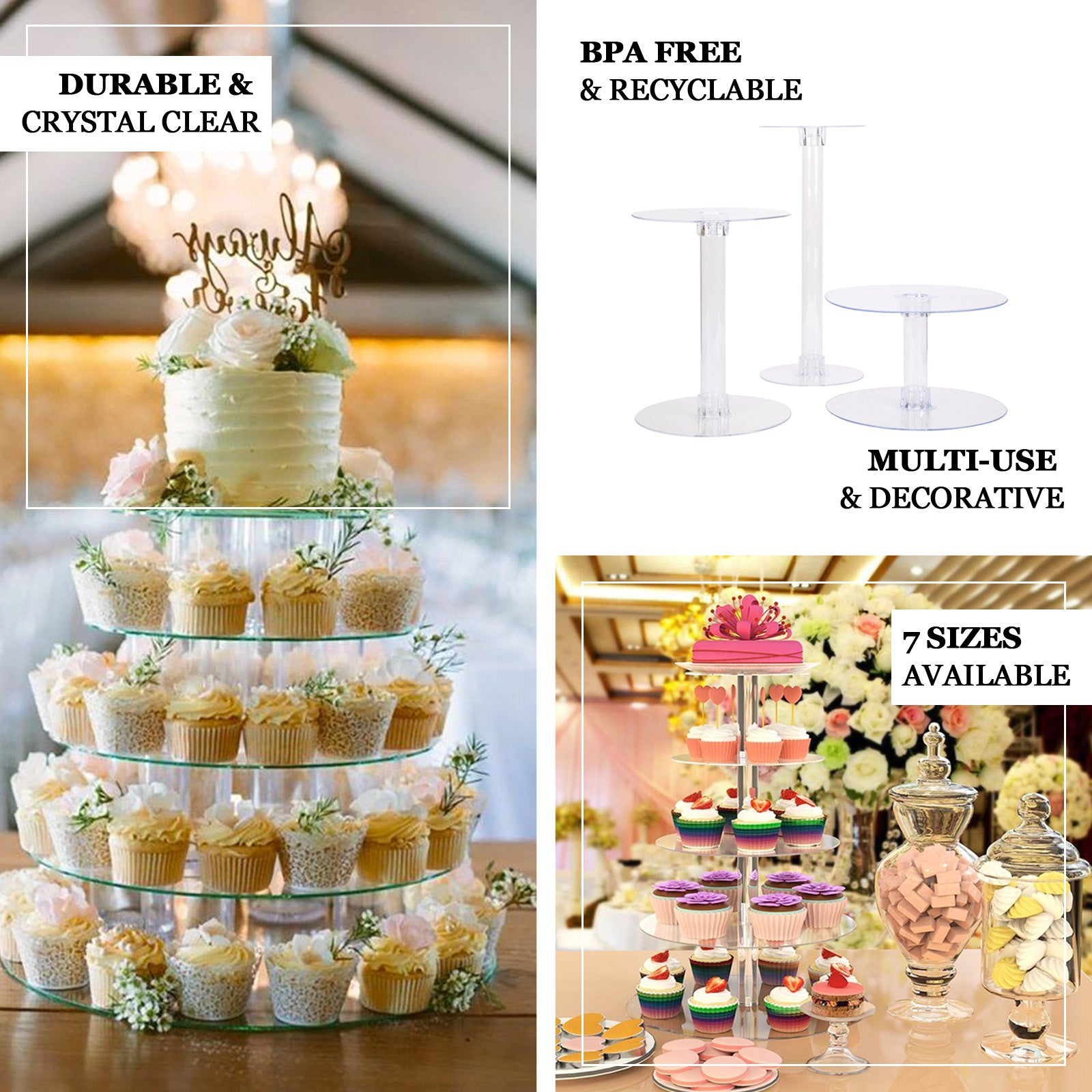 18 Round Cake Stand Plate Tiered Cake Stand Tableclothsfactory