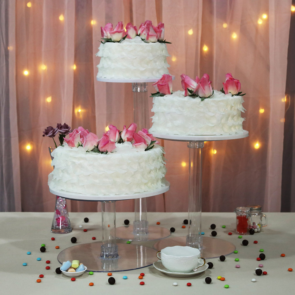 crystal cake stand wedding cake stand 6 8 10 3 tiers faux acrylic  or Real crystal