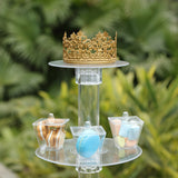 6 Tier Round Acrylic Glass Cup Cake Dessert Stand