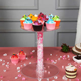 4 Tier XL Clear Acrylic Cupcake Stand