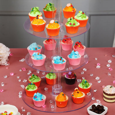 6 Tier Clear Round Acrylic Cupcake Stand