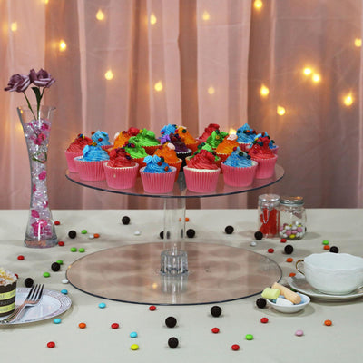 "16"" Round Acrylic Glass Cup Cake Dessert Stand"