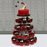 5 Tier Acrylic Crystal  Cupcake Stand