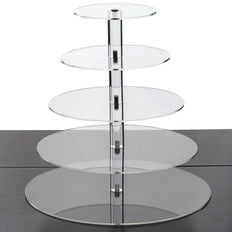 "5 Tier | 17"" Round Acrylic Cake Stand 