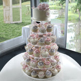 6 Tier HEAVY DUTY Acrylic Crystal Glass Cupcake Dessert Decorating Stand For Birthday Xmas Party Wedding