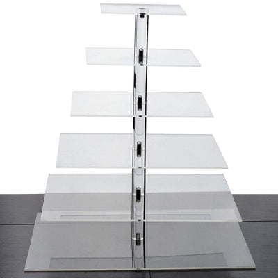 "6 Tier Acrylic Square Cupcake Stand | 20.5"" Height 