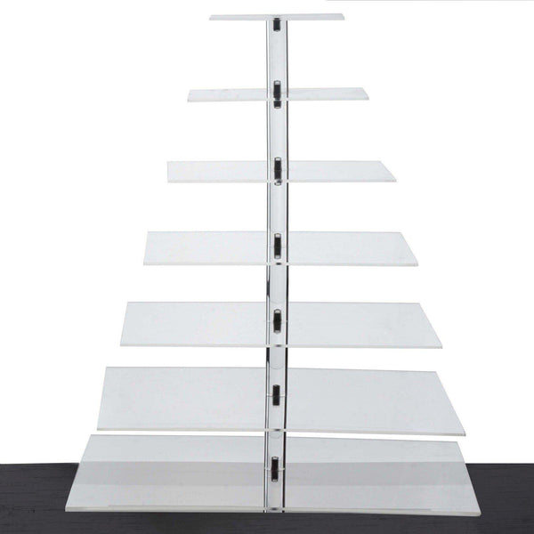 "7 Tier Acrylic Square Cupcake Stand | 25"" Height 