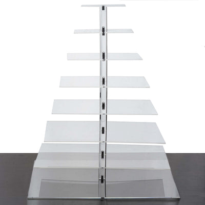 "8 Tier Acrylic Square Cupcake Stand | 29"" Height 