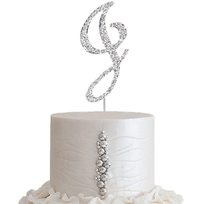 "2.5"" Bedazzling Rhinestone Letter Cake Toppers - A"