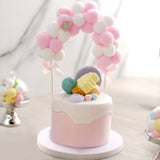 Cotton Balls Arch Cake Topper, Cake Decoration Supplies - Pink/White