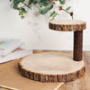 Tiered Serving Stand, Wooden Cake Stand, Rustic Centerpieces