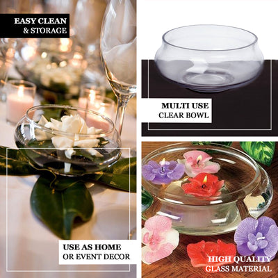 "7"" Floating Candle Glass Bowls"