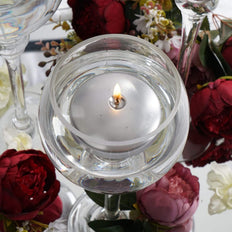 "4 Pack | 3"" Silver Disc Unscented Floating Candles 