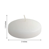 "4 Pack | 3"" White Disc Unscented Floating Candles 