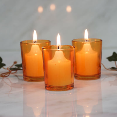 12 Pack Amber Votive Candle Holders