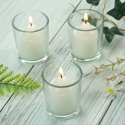 12 Pack Clear Votive Candle Holders