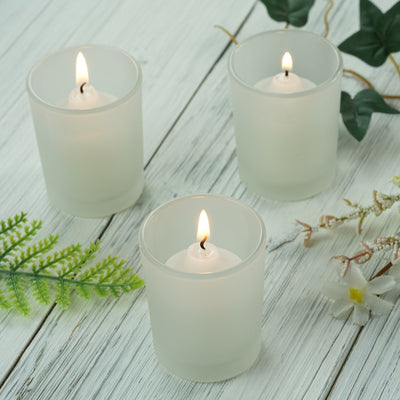 12 Pack Frosted Votive Candle Holders
