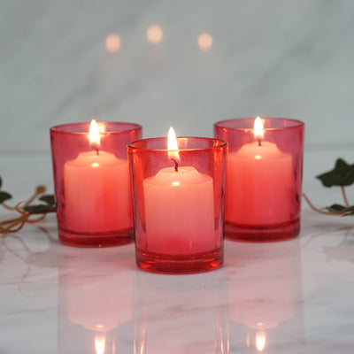 12 Pack Red Votive Candle Holders
