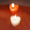 12 Pack Red Heart Shaped Tea Light Candles