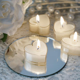 Heart Tealight Candles - 12/pk - White