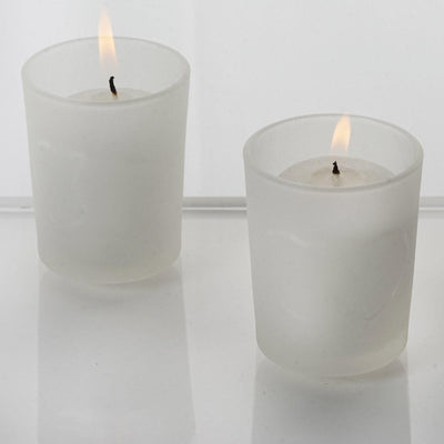 White Candles & Heart Holders-12/pk