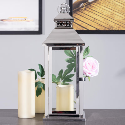1Metal Lantern Centerpieces, Outdoor Hanging Candle Lanterns