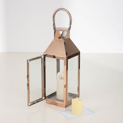 8Metal Lantern Centerpieces | Outdoor Candle Lanterns