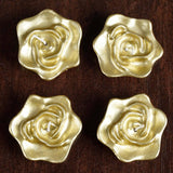 4 PCS Wholesale GOLD Rose Flower Floting Candles For Wedding Party Table Top Centerpiece Decoration