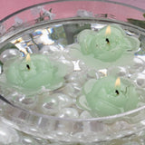 4 PCS Wholesale GREEN Rose Flower Floting Candles For Wedding Party Table Top Centerpiece Decoration