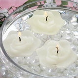 4 PCS Wholesale IVORY Rose Flower Floting Candles For Wedding Party Table Top Centerpiece Decoration